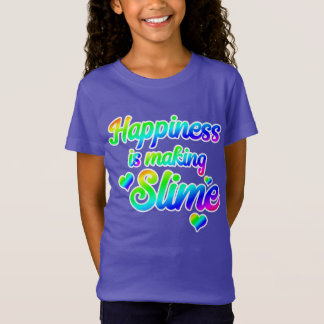 Happiness is Making SLIME t-shirt, Rainbow T-Shirt