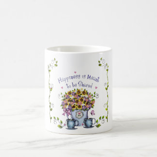 Happiness is meant to be shared mug