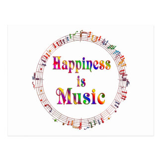 Happiness is Music Postcard