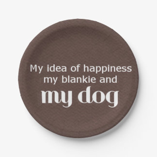 Happiness is My Dog Paper Plate