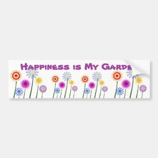 Happiness is My Garden, flowers bumper sticker Car Bumper Sticker