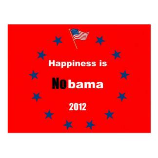 Happiness is Nobama 2012 Postcard