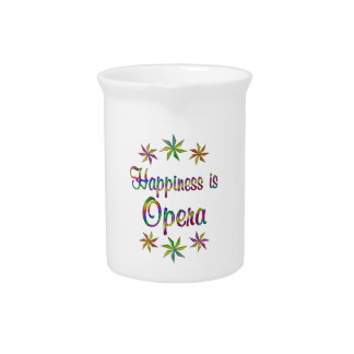 Happiness is Opera Drink Pitcher