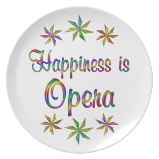 Happiness is Opera Party Plate