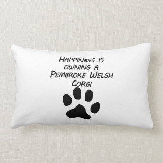Happiness Is Owning A Pembroke Welsh Corgi Throw Pillows
