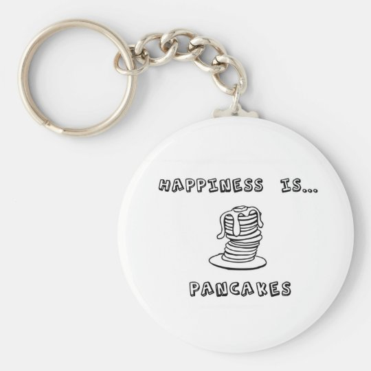 Happiness is Pancakes Keychain