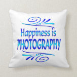 Happiness is PHOTOGRAPHY Throw Pillows