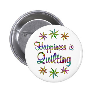 Happiness is Quilting Pinback Buttons