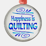 Happiness is QUILTING Christmas Tree Ornaments