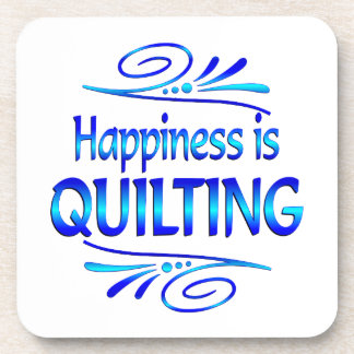 Happiness is QUILTING Beverage Coasters