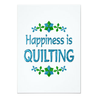 Happiness is Quilting 5x7 Paper Invitation Card