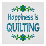 Happiness is Quilting Poster