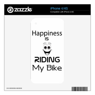 Happiness Is Riding My Bike Decals For iPhone 4S