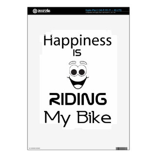 Happiness Is Riding My Bike iPad 3 Decals