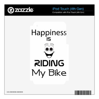 Happiness Is Riding My Bike iPod Touch 4G Skin