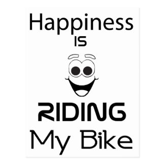 Happiness Is Riding My Bike Postcard