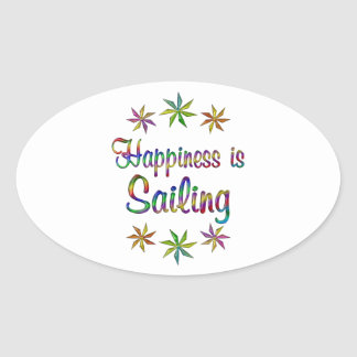 Happiness is Sailing Stickers