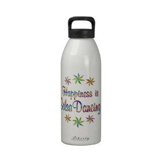 Happiness is Salsa Dancing Reusable Water Bottle