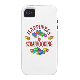 Happiness is Scrapbooking Vibe iPhone 4 Cases