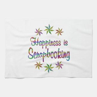 Happiness is Scrapbooking Kitchen Towel