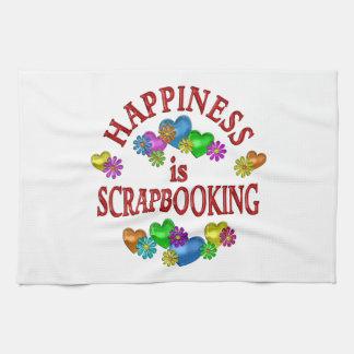 Happiness is Scrapbooking Kitchen Towels