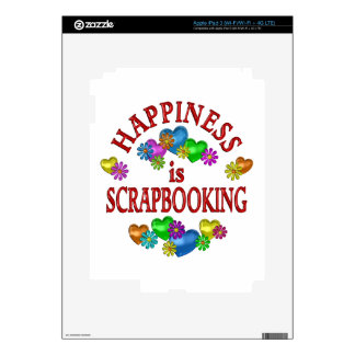 Happiness is Scrapbooking Skins For iPad 3