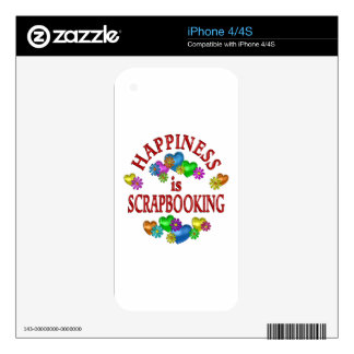 Happiness is Scrapbooking Decals For The iPhone 4