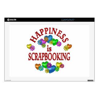 """Happiness is Scrapbooking 17"""" Laptop Decals"""