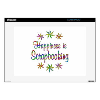"""Happiness is Scrapbooking Skins For 15"""" Laptops"""