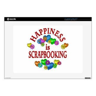 "Happiness is Scrapbooking 15"" Laptop Skin"