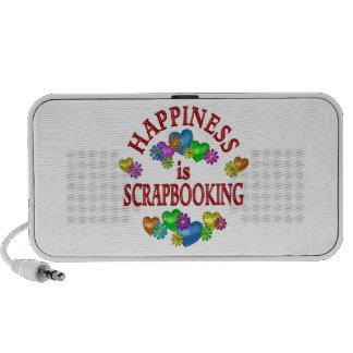 Happiness is Scrapbooking Laptop Speakers