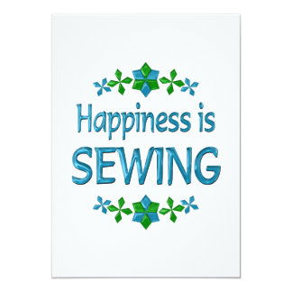 Happiness is Sewing Card