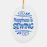 Happiness is SEWING Ornament