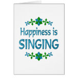 Happiness is Singing Greeting Card