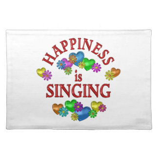 Happiness is Singing Cloth Place Mat