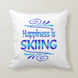 Happiness is SKIING Throw Pillows