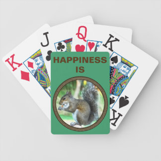 Happiness Is.  Squirrel Playing Cards JUMBO Print