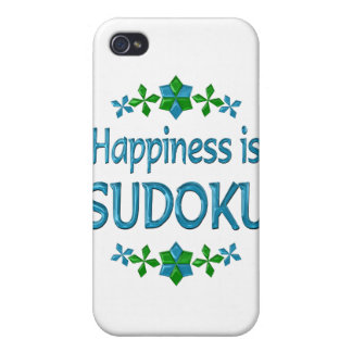 Happiness is Sudoku Cover For iPhone 4