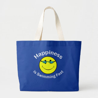 Happiness is Swimming Fast Canvas Bag
