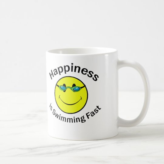 Happiness is Swimming Fast Coffee Mug