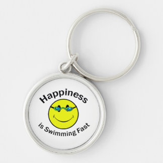 Happiness is Swimming Fast Keychain