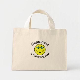 Happiness is Swimming Fast Mini Tote Bag