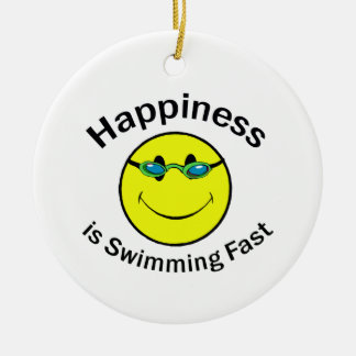 Happiness is Swimming Fast Ornament