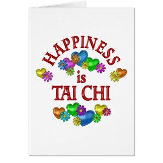 Happiness is Tai Chi Card