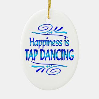 Happiness is TAP DANCING Ceramic Ornament