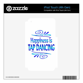 Happiness is TAP DANCING Decals For iPod Touch 4G
