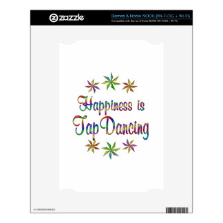 Happiness is Tap Dancing Decals For NOOK