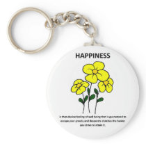 happiness-is-that-elusive-feeling-of-well-being keychain