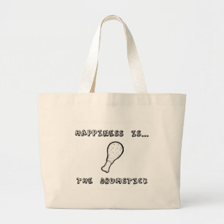 Happiness is the Drumstick Large Tote Bag