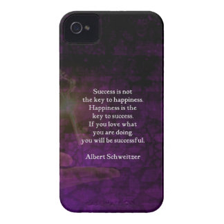 Happiness Is The Key To Success Uplifting Quote iPhone 4 Case-Mate Case